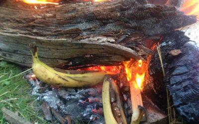 Banansplitt på bål
