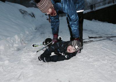 Det var ikke så lett å gå på ski!!